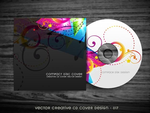 Diseño colorido elegante de cubierta de cd