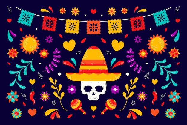 Diseño colorido del fondo mexicano