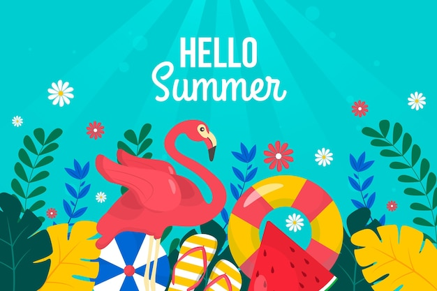 Diseño colorido de fondo de verano
