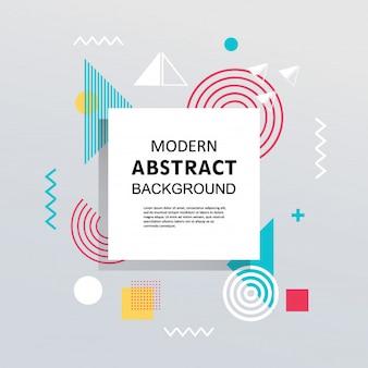 Diseño colorido geométrico plano de memphis abstracto