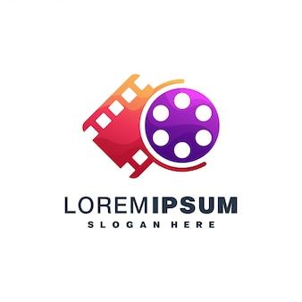 Diseño colorido del icono de película