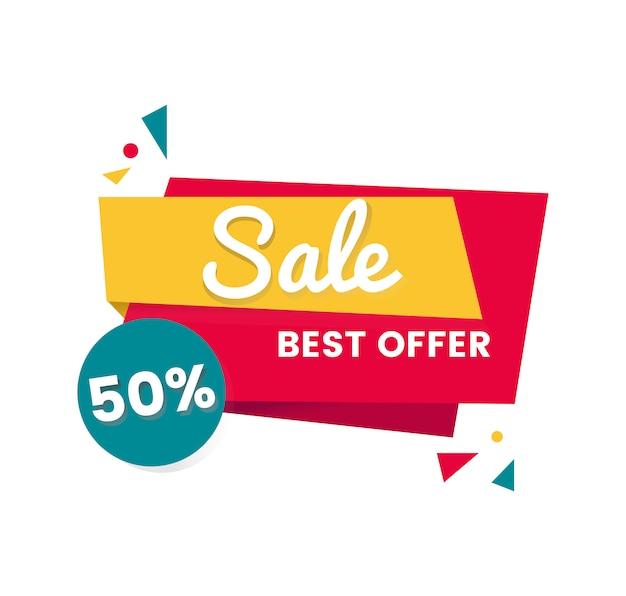 Diseño colorido de la insignia de la venta de las compras