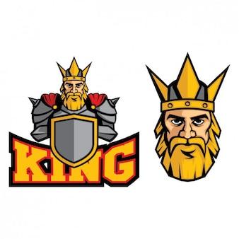 Diseño colorido de logo de rey