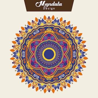 Diseño colorido de la mandala