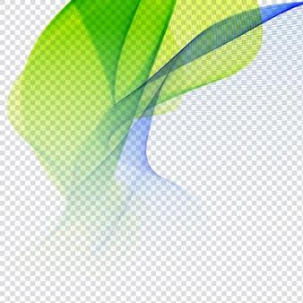 Diseño colorido ondulado en fondo transparente
