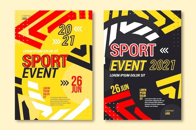 Diseño colorido de la plantilla del cartel del evento deportivo