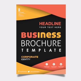 Diseño colorido de la plantilla del folleto del negocio del vector