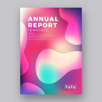 Diseño colorido para plantilla de informe anual