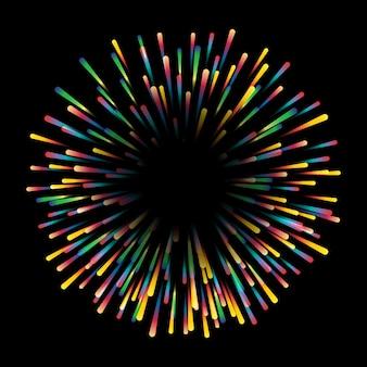 Diseño colorido de starburst