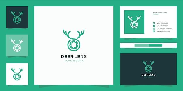 Diseño combinado de lentes y asta de ciervo