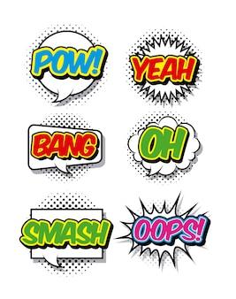 Diseño de cómic y pop cart