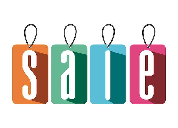 Diseño de compras sobre fondo blanco ilustración vectorial
