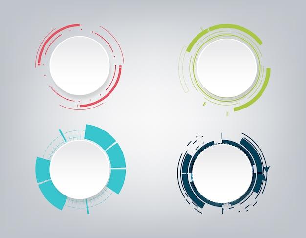 Diseño de comunicación de tecnología abstracta.