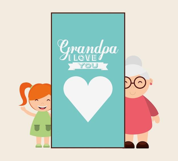 Diseño de concepto de abuelos