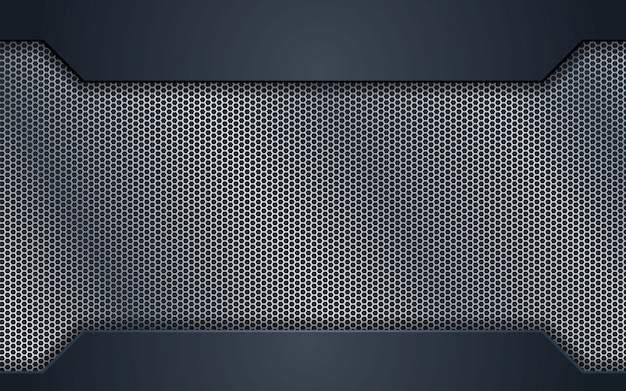 Diseño de concepto de acero de plata abstracta