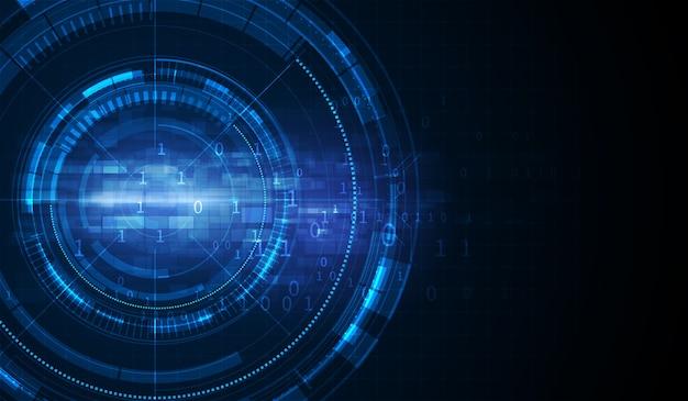Diseño de concepto de carga de movimiento de velocidad de túnel de ciencia ficción de tecnología digital abstracta