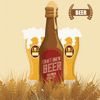 Diseño de concepto de cerveza