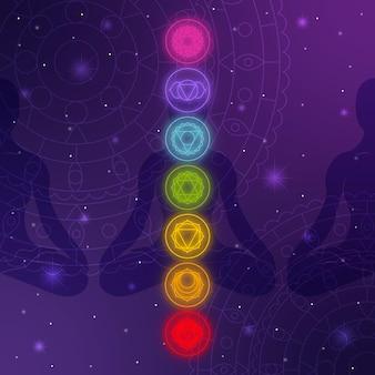 Diseño de concepto de chakras