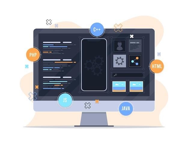 Diseño de concepto de desarrollo de aplicaciones