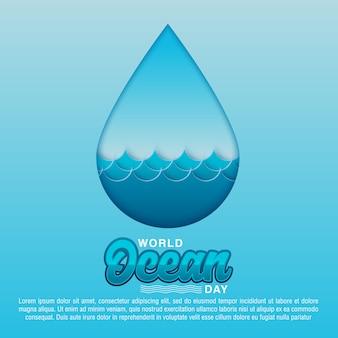 Diseño de concepto de día mundial océanos