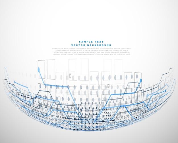 Diseño de concepto digital con malla de alambre