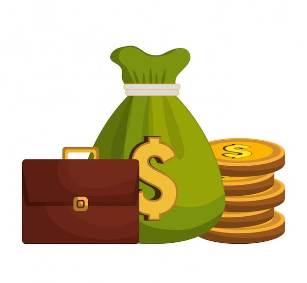 Diseño de concepto de dinero