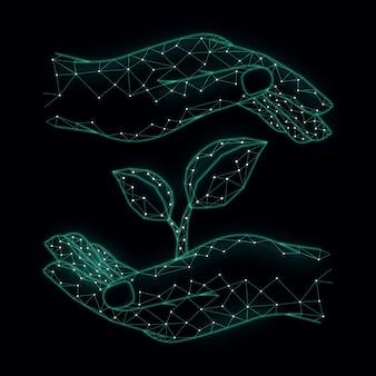 Diseño de concepto de ecología tecnológica.