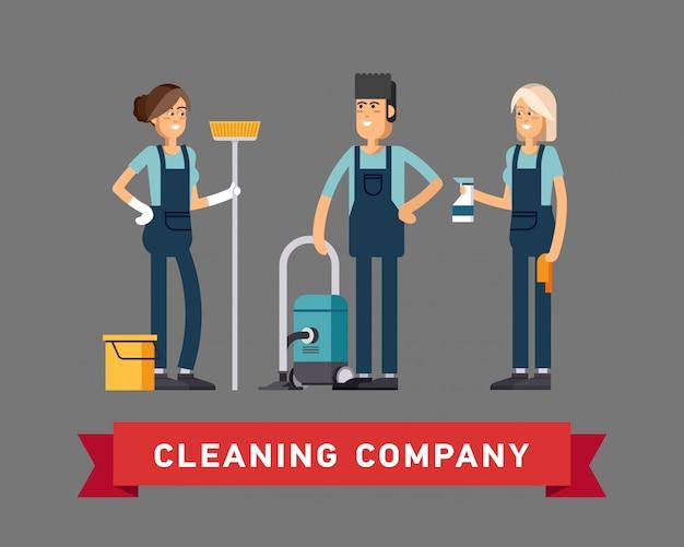 Diseño de concepto de empresa de limpieza.