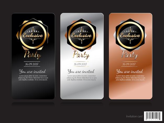 Diseño de concepto exclusivo de tarjeta de invitación