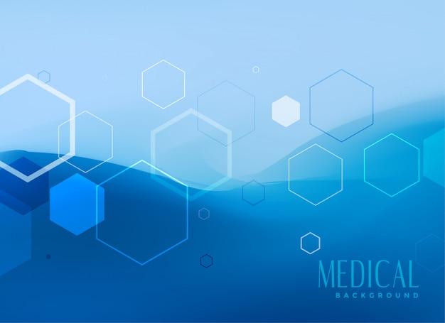 Diseño de concepto de fondo médico en color azul