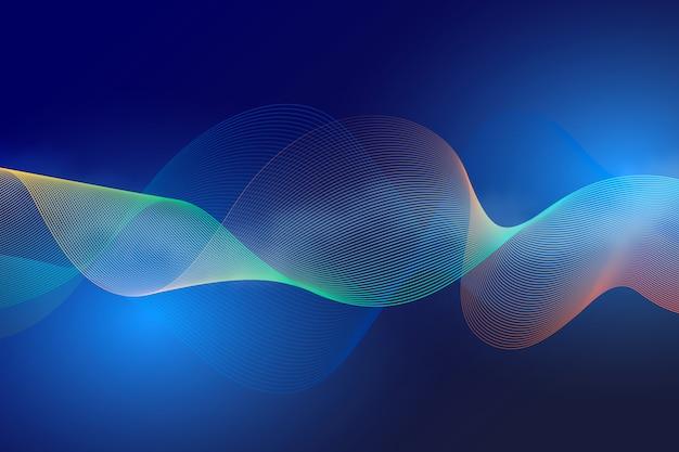 Diseño de concepto de fondo ondulado