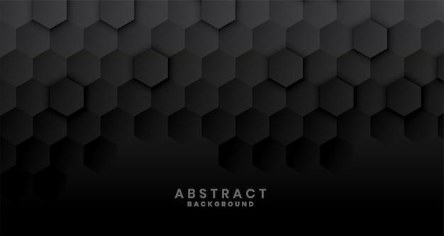 Diseño de concepto hexagonal negro oscuro