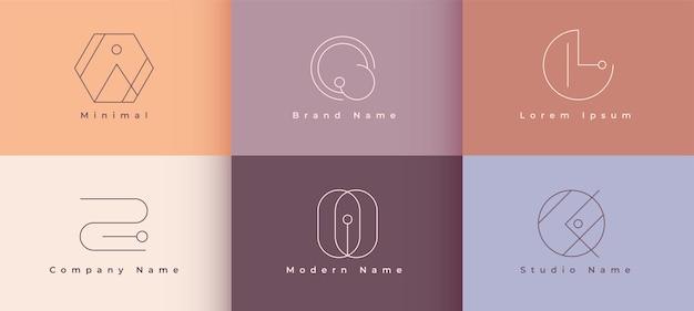 Diseño de concepto de logotipo de línea minimalista