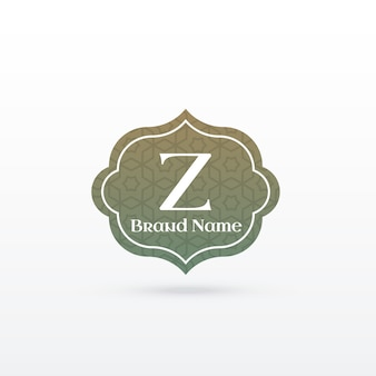 Diseño de concepto de logotipo de marca en estilo islámico