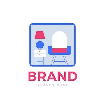 Diseño de concepto de logotipo de muebles
