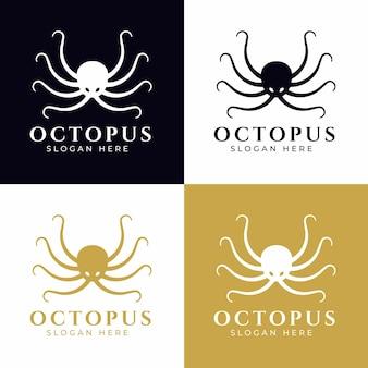 Diseño de concepto de logotipo de pulpo