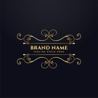 Diseño de concepto de logotipo real de marca de lujo
