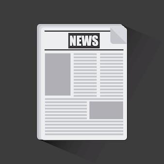 Diseño de concepto de noticias, gráfico de vector ilustración eps10