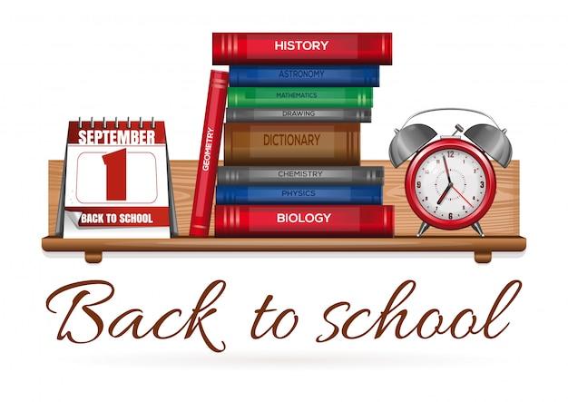 Diseño de concepto de regreso a la escuela. ilustración