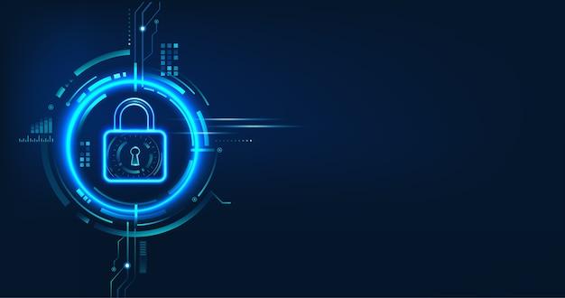 Diseño de concepto de seguridad de datos para privacidad personal, protección de datos y seguridad cibernética.