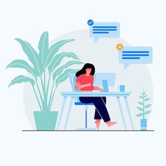Diseño de concepto de trabajo en casa.