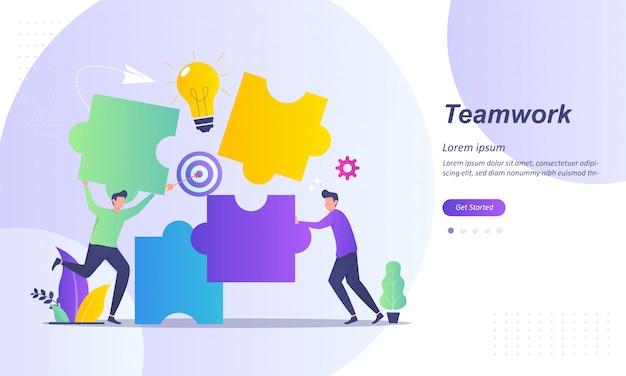 Diseño de concepto de trabajo en equipo