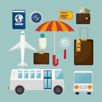 Diseño de concepto de viaje