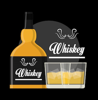 Diseño de concepto de whisky