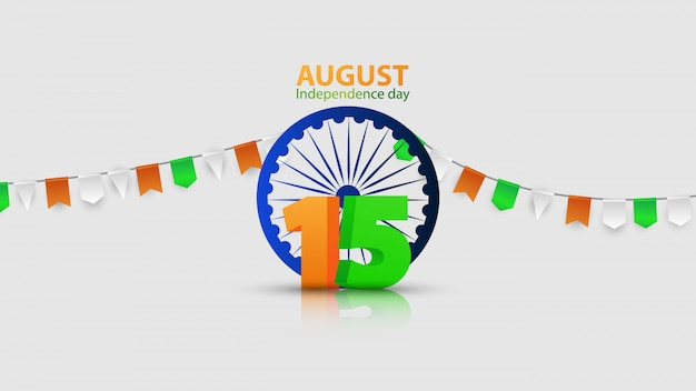 Diseño conceptual independence day india graphics