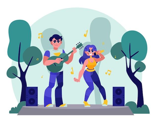 Diseño de conciertos al aire libre