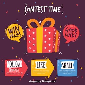 Diseño de concurso o regalo de redes sociales