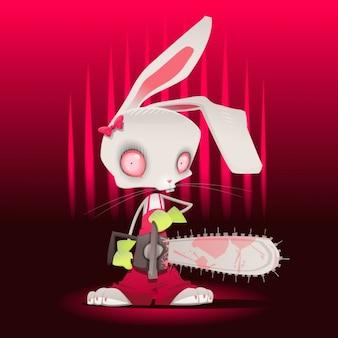 Diseño de conejo siniestro