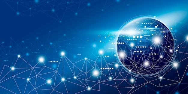 Diseño de conexión de red global con espacio de copia.