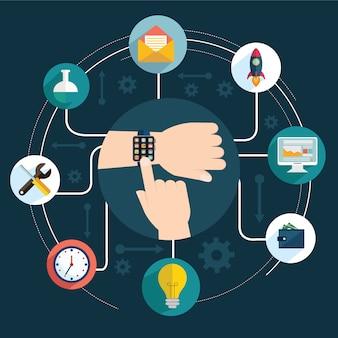 Diseño de configuración de smartwatch